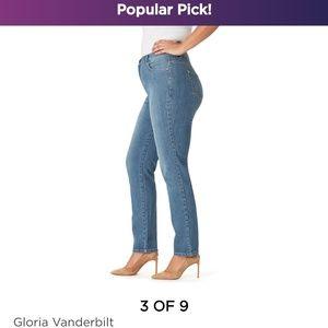 Gloria Vanderbilt women's Amanda blue denim jeans